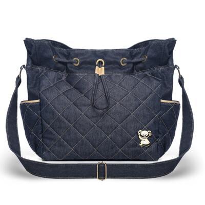 Imagem 3 do produto Mala Maternidade para bebe + Bolsa Cannes + Frasqueira Térmica Firenze + Kit Acessórios + Trocador Portátil Golden Denim - Classic for Baby Bags