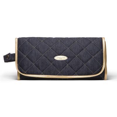 Imagem 6 do produto Mala Maternidade para bebe + Bolsa Cannes + Frasqueira Térmica Firenze + Kit Acessórios + Trocador Portátil Golden Denim - Classic for Baby Bags