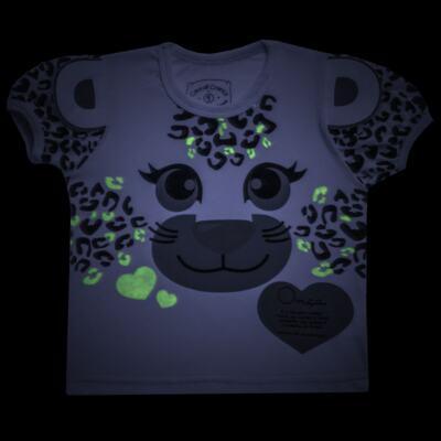 Imagem 5 do produto Pijama curto que Brilha no Escuro Onça Pintada - Cara de Criança - U1820 ONCA PINTADA PIJAMA-CURTO M/MALHA -3