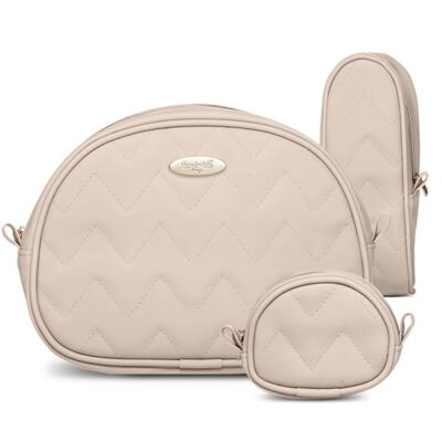 Imagem 5 do produto Mala Maternidade para bebe + Bolsa Turin + Térmica Trento +  Térmica Firenze + Kit Acessórios Chevron Ágata - Classic for Baby Bags