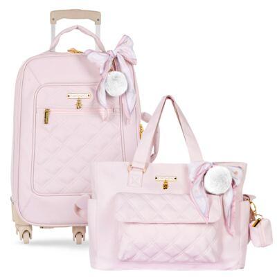 Imagem 1 do produto Mala Maternidade com Rodízio + Bolsa Sú Ballet Rosa - Masterbag