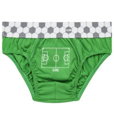 Imagem 2 do produto Kit com 3 Cuecas para bebe em malha Soccer Team - Cara de Criança - KK2299 Kit Futebol KK3 Kit Cueca 3 pçs M/Malha-PP