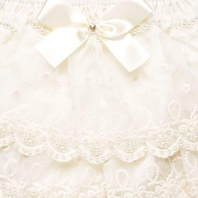 Imagem 3 do produto Calcinha em tricoline Renda & Pérolas Marfim - Roana - CLLU0005031 Calcinha Detalhe Luxo Renda Marfim-G