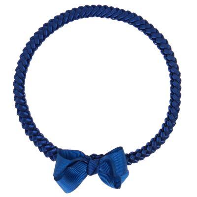 Imagem 1 do produto Faixa de cabelo trançada Laço Marinho - Roana - 23840020008 FAIXA TRANÇADA MARINHO