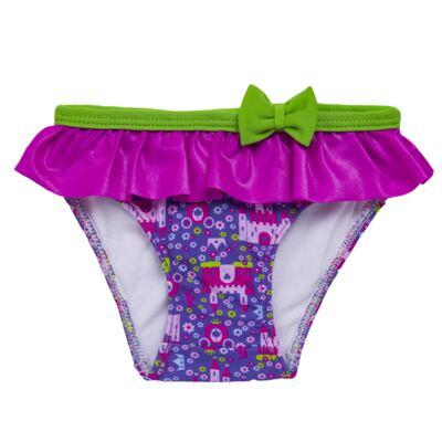 Imagem 4 do produto Conjunto de Banho para bebe Castellana: Roupão + Biquíni - Cara de Criança - KIT 2 2581: BB2581+ROB2581 BIQUINI E ROUPÃO BB CASTELO-2