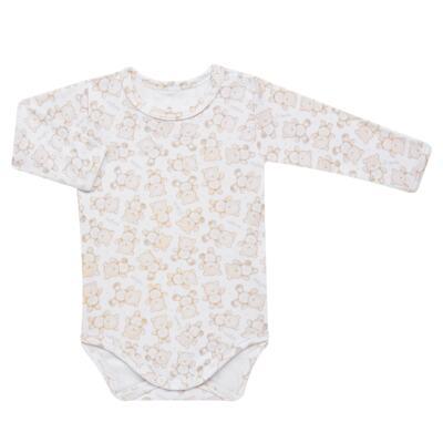 Imagem 2 do produto Pack: 02 Bodies longos para bebe em algodão egípcio c/ jato de cerâmica Nature Little Friends - Mini & Classic - 1023650 PACK 2 BODIES ML SUEDINE NATURE -P
