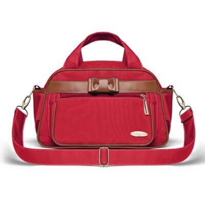Imagem 4 do produto Kit Mala Maternidade para bebe + Bolsa Viagem Oxford + Frasqueira Térmica Kent Laço Caramel Vermelho - Classic for Baby Bags