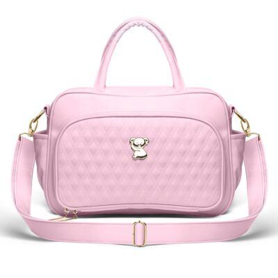 Imagem 3 do produto Kit Mala Maternidade para bebe + Bolsa Veneza + Frasqueira Térmica Milão Golden Koala Rosa- Classic for Baby Bags
