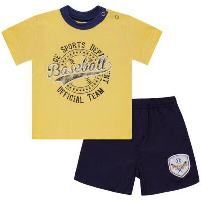 Imagem 1 do produto Camiseta com Shorts em tactel Baseball - Vicky Lipe - 9451367 CAMISETA MC C/ SHORTS TACTEL SPORT 2-2