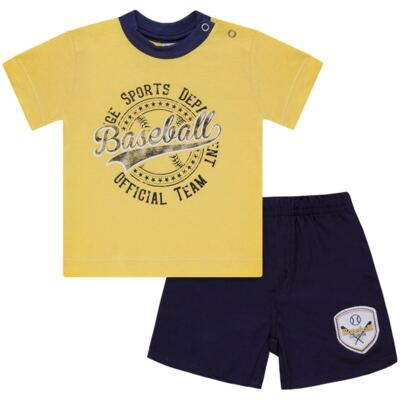 Camiseta com Shorts em tactel Baseball - Vicky Lipe - 9451367 CAMISETA MC C/ SHORTS TACTEL SPORT 2-P