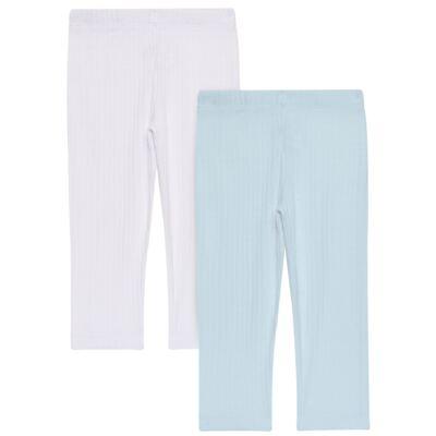 Imagem 1 do produto Pack 2 Mijões para bebe Sleep Comfort Azul/Branco - Vicky Lipe - 10180001.31 PACK 2 MIJOES SEM PÉ - SUEDINE-G