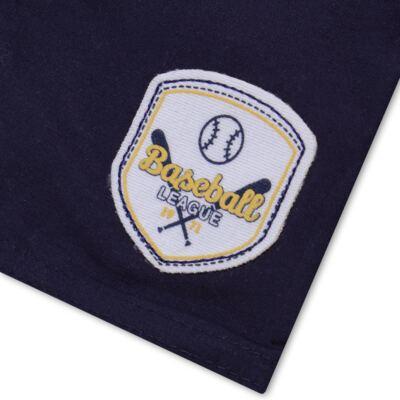 Imagem 5 do produto Camiseta com Shorts em tactel Baseball - Vicky Lipe - 9451367 CAMISETA MC C/ SHORTS TACTEL SPORT 2-M