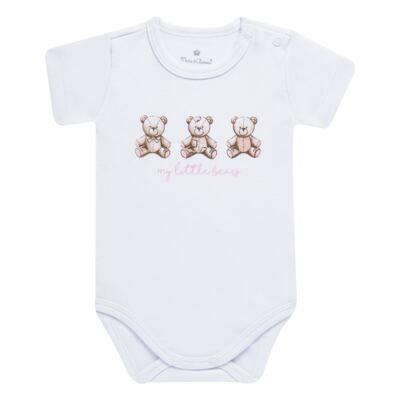 Imagem 3 do produto Pack: 02 Bodies curtos para bebe em algodão egípcio c/ jato de cerâmica Princess Bear - Mini & Classic - 1024655 PACK 2 BODIES MC SUEDINE URSA-M