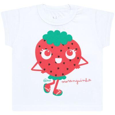 Imagem 2 do produto Conjunto de Banho Strawberry: Camiseta + Biquíni - Cara de Criança - KIT2-1253: B1253 BIQUINI + CCA1253 CAMISETA MORANGUINHO-2