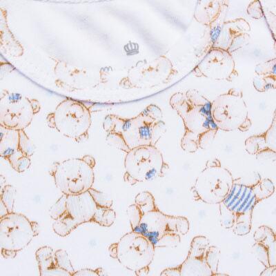 Imagem 2 do produto Body regata para bebe em algodão egípcio c/ jato de cerâmica Prince Bear - Mini & Classic - BDR656 BODY REGATA SUEDINE URSO-G