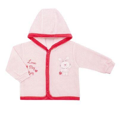 Imagem 2 do produto Casaco com capuz e Calça para bebe em plush Petit Lapin - Vicky Lipe - 938944 CONJ. BLUSAO C/ CAPUZ E CALCA PLUSH COELHA-2