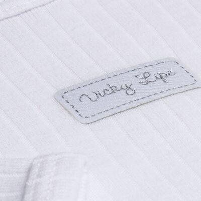 Imagem 4 do produto Pack 2 Bodies longos para bebe Sleep Comfort Branco/Rosa - Vicky Lipe - 10140001.30 PACK 2 BODIES M/L TRANSPASSADO - SUEDINE-P