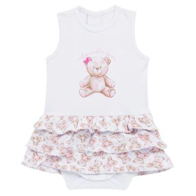Imagem 1 do produto Body Vestido para bebe em algodão egípcio com jato de cerâmica Princess Bear - Mini & Classic - 0407655 BODY VESTIDO REG SUEDINE URSA -G