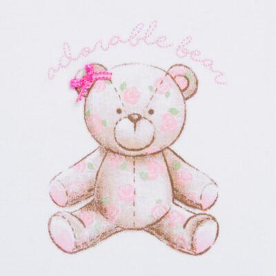 Imagem 2 do produto Body Vestido para bebe em algodão egípcio com jato de cerâmica Princess Bear - Mini & Classic - 0407655 BODY VESTIDO REG SUEDINE URSA -G