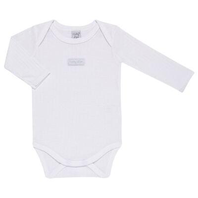 Imagem 3 do produto Pack 2 Bodies longos para bebe Sleep Comfort Branco/Rosa - Vicky Lipe - 10140001.30 PACK 2 BODIES M/L TRANSPASSADO - SUEDINE-1