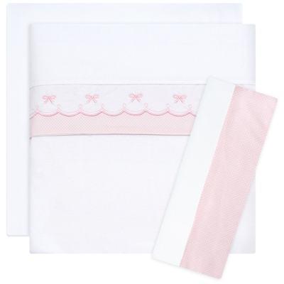 Imagem 1 do produto Jogo de lençol para berço em malha Lacinhos - Classic for Baby