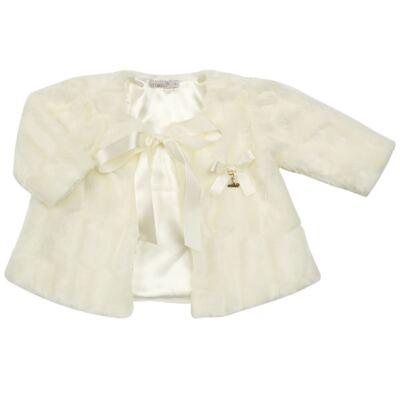 Imagem 1 do produto Casaco de pele para bebe Marfim - Roana - 06032006031 Casaco de Pele Marfim-M