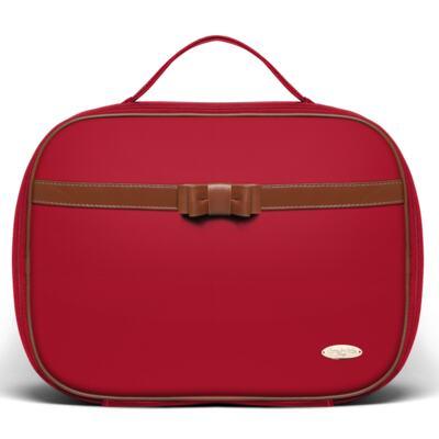 Imagem 2 do produto Kit Mala Maternidade para bebe + Frasqueira Térmica Kent +  Kit Acessórios + Necessaire Laço Caramel Vermelho - Classic for Baby Bags