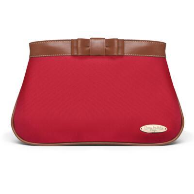 Imagem 5 do produto Kit Mala Maternidade para bebe + Frasqueira Térmica Kent +  Kit Acessórios + Necessaire Laço Caramel Vermelho - Classic for Baby Bags