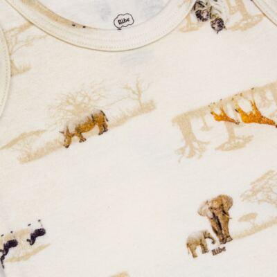 Imagem 3 do produto Regata com Cobre Fralda em algodão egípcio Safari - Bibe - 38G02-G57 CJ. Curto Regata Cobre Fraldas Marfim-M