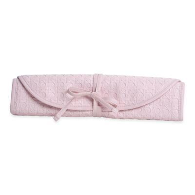 Imagem 6 do produto Mala maternidade para bebe + Bolsa maternidade + Frasqueira térmica + Porta Mamadeira + Trocador portátil Tressê Rosa - Majov