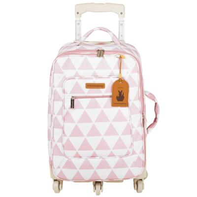 Imagem 2 do produto Mala maternidade com Rodízio + Bolsa Everyday + Frasqueira Organizadora Manhattan Rosa - Masterbag