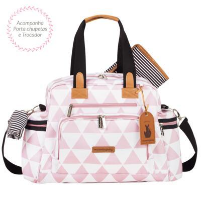 Imagem 3 do produto Mala maternidade com Rodízio + Bolsa Everyday + Frasqueira Organizadora Manhattan Rosa - Masterbag