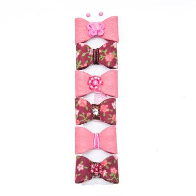 Imagem 1 do produto Kit: 6 Laços adesivos Coral & Floral - Roana