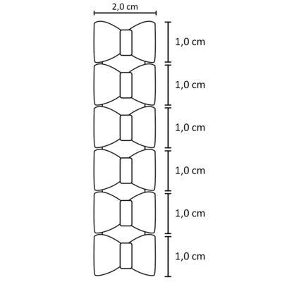 Imagem 2 do produto Kit: 6 Laços adesivos Coral & Floral - Roana