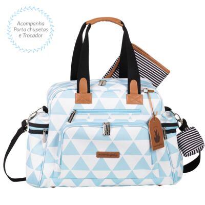 Imagem 4 do produto Mala maternidade Vintage + Bolsa Everyday + Frasqueira Emy Manhattan Azul - Masterbag