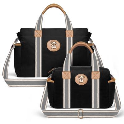 Imagem 1 do produto Bolsa Maternidade para bebe Albany + Frasqueira Térmica Gold Coast Adventure em sarja Preta - Classic for Baby Bags