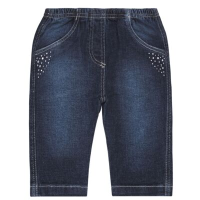 Imagem 1 do produto Calça jeans para bebe Little Heart - Tilly Baby - TB166003 CALCA JEANS FEM -M