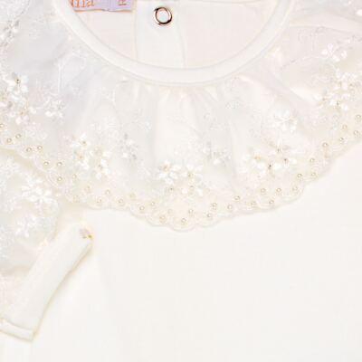 Imagem 3 do produto Body longo para bebe em malha Renda Marfim - Roana - 01640002031 BODY LONGO AVULSO ESPECIAL MARFIM-G
