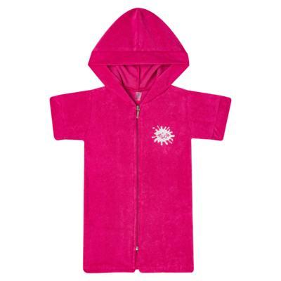 Imagem 1 do produto Roupão atoalhado com capuz Pink - Cara de Criança - RO2166 ROUPAO PINK RO ROUPAO ATOALHADO-3
