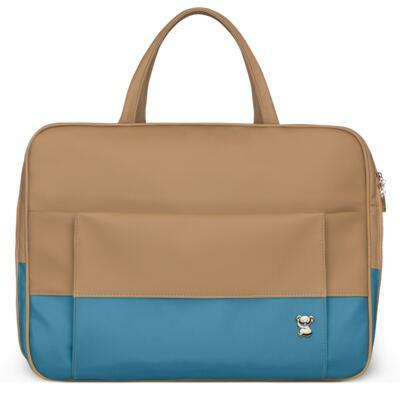 Imagem 2 do produto Mala Maternidade para bebe + Bolsa Genebra + Frasqueira Térmica Zurique Due Colore Turquesa - Classic for Baby Bags
