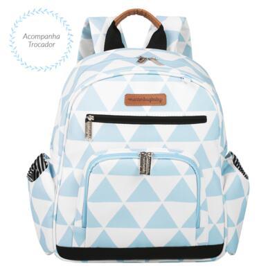 Imagem 4 do produto Mala maternidade com Rodízio + Bolsa 4 em 1 Sofia + Frasqueira térmica Vicky + Mochila Noah Manhattan Azul - Masterbag