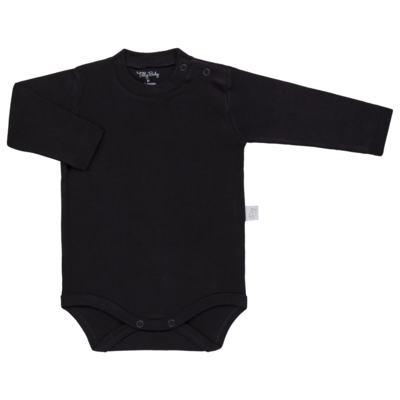 Imagem 1 do produto Body longo para bebe em suedine Preto - Tilly Baby - TB13111.08 BODY LONGO DE SUEDINE PRETO-M