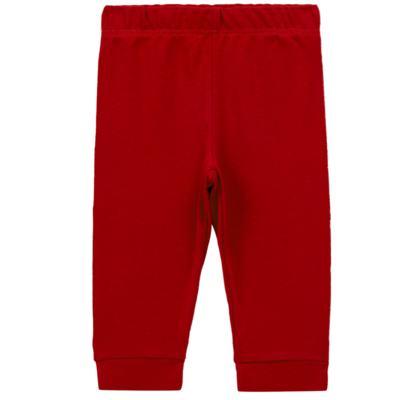 Imagem 1 do produto Calça (mijão) para bebe em cotton touch Vermelha - Mini Sailor - 83024263 MIJAO PE REVERS AVULSO SUEDINE VERMELHO-6-9