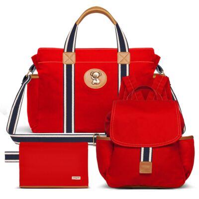 Imagem 1 do produto Bolsa maternidade para bebe + Mochila + Necessaire Adventure em sarja Vermelha - Classic for Baby Bags