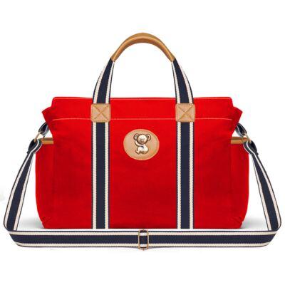 Imagem 2 do produto Bolsa maternidade para bebe + Mochila + Necessaire Adventure em sarja Vermelha - Classic for Baby Bags
