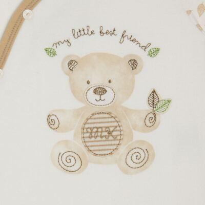 """Imagem 2 do produto Macacão com abertura """"S"""" para bebe em algodão egípcio c/ jato de cerâmica e filtro solar fps 50 Nature Little Friend Bear  - Mini & Kids - MCPR0001.18 MACAÇÃO COM PÉ REVERSÍVEL- SUEDIENE-M"""