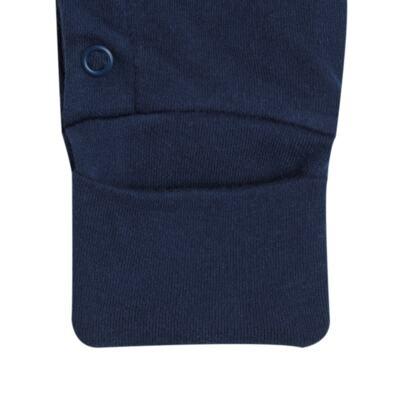 Imagem 4 do produto Macacão longo para bebe em suedine Colete & Gravata Azul - Bibe - 39C47-01 MAC MASC ML BY BIBE-P