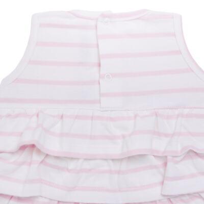 Imagem 3 do produto Body Vestido para bebe em suedine Lolita - Mini Sailor - 01224441 BODY VESTIDO C/LACOS SUEDINE ROSA BEBE-9-12