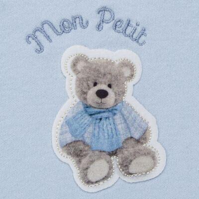Imagem 3 do produto Regata c/ Cobre fralda para bebe em algodão egípcio Chevalier - Petit - 17944167 CONJ REGATA C/ COBRE FRALDA SUED/VISCO URSO -M