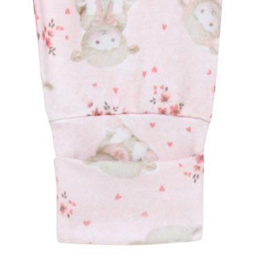 Imagem 4 do produto Body longo com Calça para bebe em suedine Ovelhinha Rosa - Petit - 17924344 CONJ BODY M/L MIJAO REV SUEDINE OVELHA FEM-P